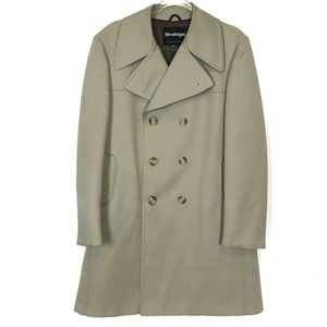 Stratojac Ribbed Double Breasted Warm Overcoat 40L